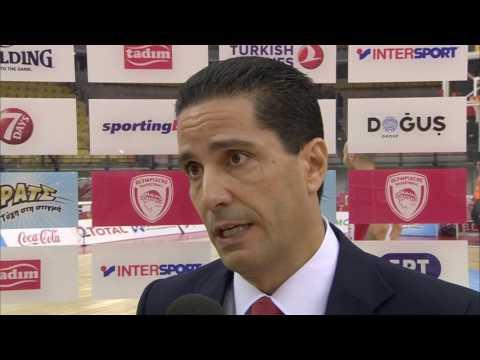 Post-game interview: Coach Sfairopoulos, Olympiacos Piraeus