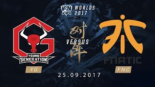 [25.09.2017] YG vs FNC [Play-in][CKTG2017]