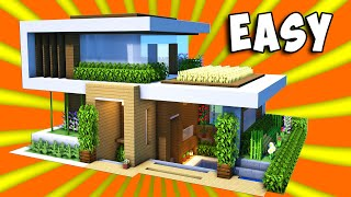 Minecraft: How To Build A Large Modern House Tutorial ( 2020 )