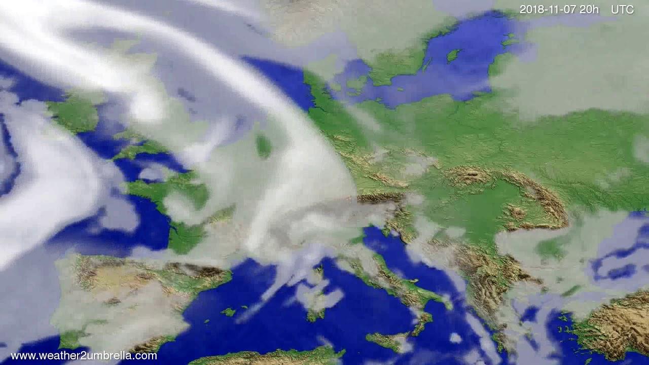 Cloud forecast Europe 2018-11-05