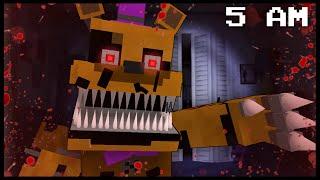 Minecraft FNAF - Nightmare Fredbear | 5 AM (FNAF Minecraft Roleplay)