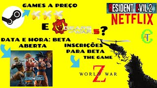 BETA DE JUMP FORCE, BETA DE NOVO GAME, RESIDENT EVIL NA NETFLIX, FIM DO WII SHOP E GEARS OF WAR 5?