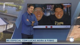 Lucas Akira e Fábio participam ao vivo do Balanço Geral Especial