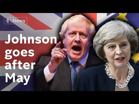 Open Brexit warfare as Boris Johnson takes on May at Conference