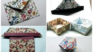 Best 5 ☆ Origami Crafts /Simple and Easy Paper Craft/ Quick and Fast Origami Envelope, Boxes, Hat...