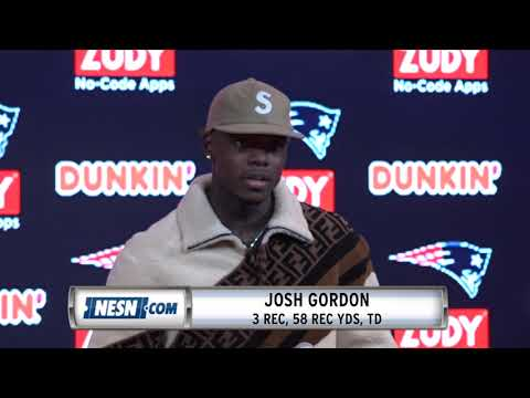 Video: Josh Gordon Week 13 Patriots vs. Vikings postgame press conference