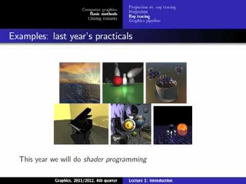 Computer Graphics 2012, Lect. 1(2) - Introduction