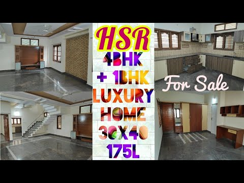 Triplex 4BHK+1BHK Independent 30x40 Luxurious Home in HSR Layout Ext