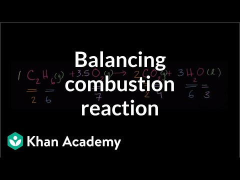 Balancing Another Combustion Reaction Video Khan Academy