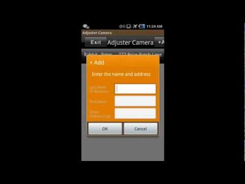 Adjuster Camera Software Introduction