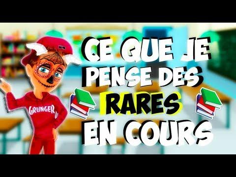 CE QUE JE PENSE DES RARES EN COURS ! (видео)