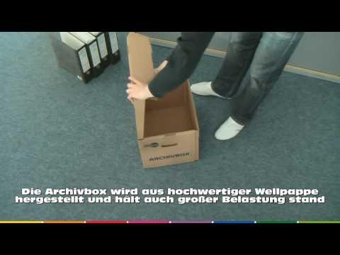 Archivbox für DIN A4 Ordner | www.nordpack.de