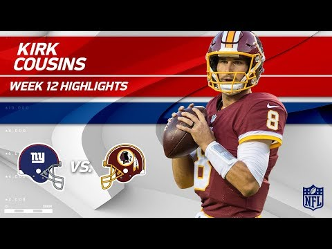 Video: Kirk Cousins Leads Washington to Victory w/ 242 Yds & 2 TDs | Giants vs. Redskins | Wk 12 Player HLs