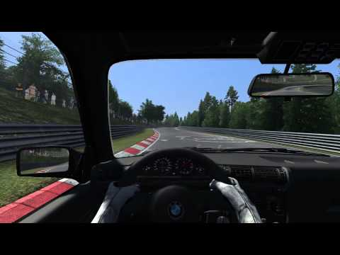 Assetto Corsa BMW E30 M3 8:38.827 lap at Nürburgring Nordschleife (with corner names)