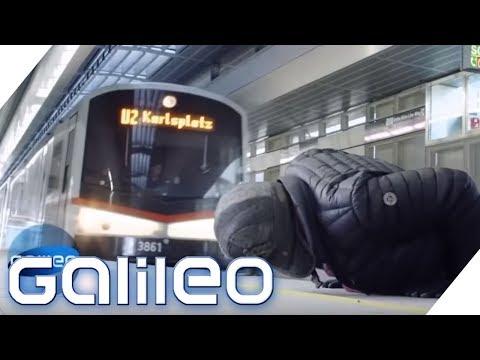Vor der einfahrenden Bahn flüchten - Can you survive? | Galileo |  ProSieben