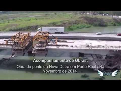 Acompanhamento da obra da nova ponte da Nova Dutra, em Porto Real