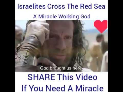 Israelites Crossing the Red Sea, the exodus - A miracle working God