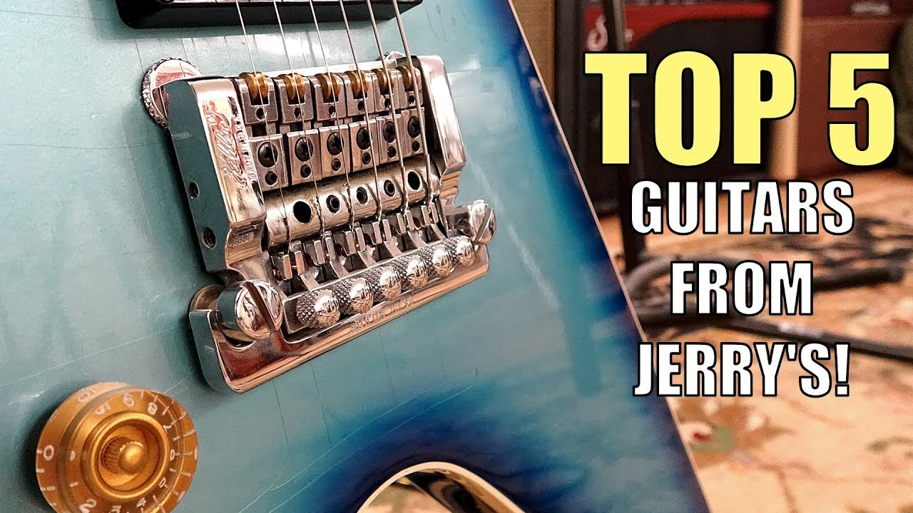 My Top 5 Electric Guitars I Played at Jerry's Lefty Guitars!