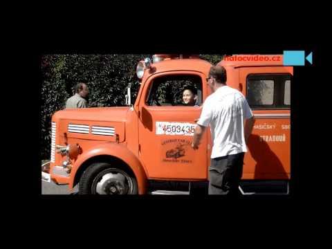 Historické hasičské auto Stradouně