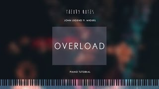 How to Play John Legend ft. Miguel - Overload | Theory Notes Piano Tutorial