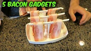 1 EZ BACON MAKER - http://amzn.to/2jgq50o 2 Microwave Bacon Cooker - http://amzn.to/2jgpxHH 3 Bacon Bowl...