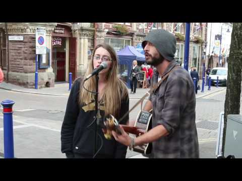 Everly Brothers - All I Have To Do Is Dream (cover): Rebecca & Lee - Busking