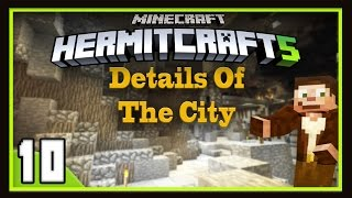 HermitCraft Season 5:  Building The Design Details Of The City Pillar (Minecraft 1.12)