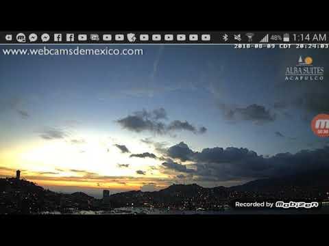 Meteor/Asteroid over Mexico Acapulco Mariana 8/09/2018 entering into the Poseidon meteor shower