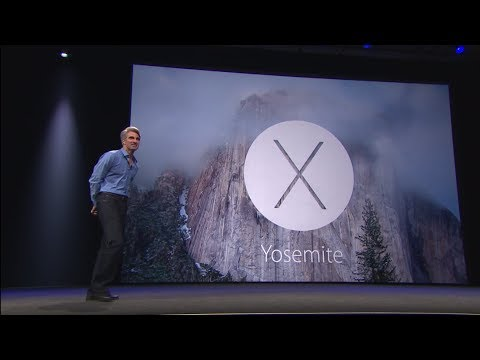 OSX - OS X 10.10 Yosemite Introduction - First time I'm ever excited about a release of OSX.