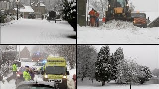 Buxton United Kingdom  city images : Britains Snow Storms January 2015 - Buxton, UK