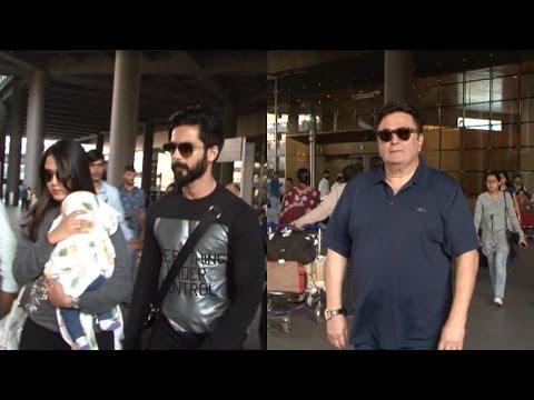 Shahid Kapoor , Mira Rajput And Rishi Kapoor Spotted At Mumbai Airport