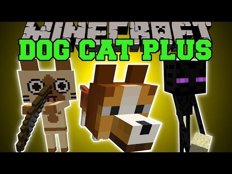 Minecraft: DOG CAT PLUS MOD (PETS THAT GROW UP, SPECIAL MODES, & CUSTOMIZE THEM!) Mod Showcase