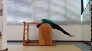 Variação do Backward Stretch Hanging