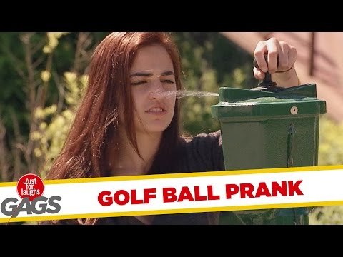 Golf Ball Machine Sprays All Over People