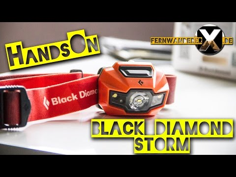 Black Diamond Storm Kopflampe / Stirnlampe HandsOn / Test 2016