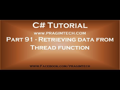 Part 91   Retrieving data from Thread function using callback method