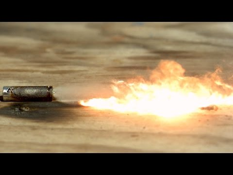 Batteries Exploding in Super Slow Motion