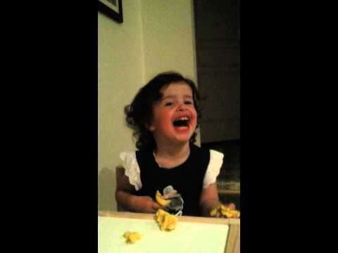 Crazy laughing cute little girl