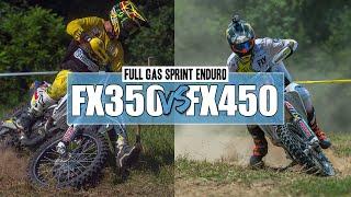 9. Husqvarna FX350 vs. Husqvarna FX450  | Wade Farm Sprint Enduro 2018 POV