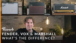 Video Fender vs Vox vs Marshall: What's the Difference? | Reverb Tone Report MP3, 3GP, MP4, WEBM, AVI, FLV Februari 2019