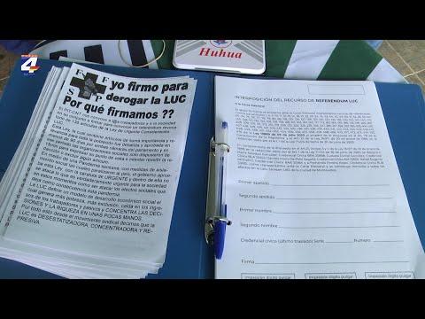 Federación de Funcionarios de Salud Pública trabaja en la recolección de firmas contra la LUC