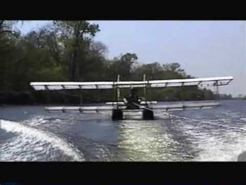 ultralight sailplane - Homemade glider made from wood, plastic sheeting, and duct tape. Originally designed by Bob Harlan. This one was built in 2003-2004 by Lee Emerson, in New Or...