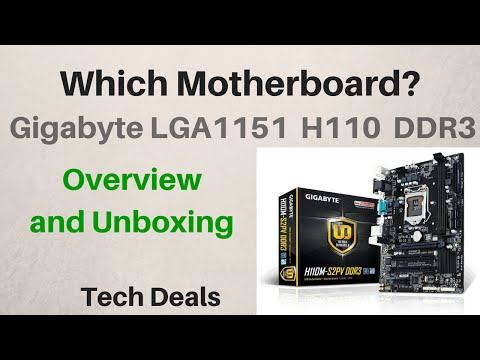 Gigabyte H110 Skylake Motherboard - Unboxing & Overview - GA-H110M-A