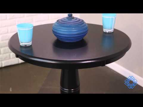 Video For 30 Inch Tall, 30 Inch Round Top Black Pedestal Dining Table