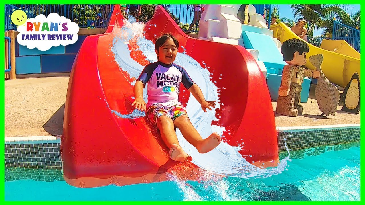 Legoland Water Parks Ride and Aquarium for kids with Ryan's Family Review!!! - YouTube
