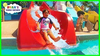 Legoland Water Parks Ride and Aquarium for kids with Ryan's Family Review!!!