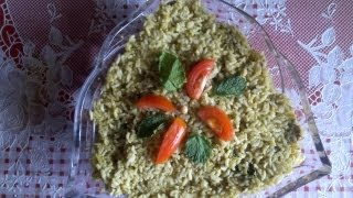 Pudina (mint) fried rice
