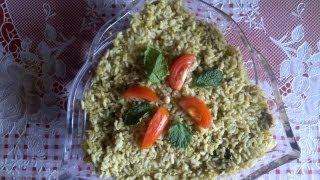 Pudina (mint) fried rice