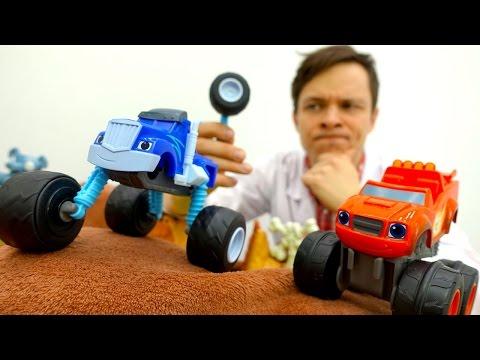 Видео для детей: Машинки ВСПЫШ Крушила и ДокторОЙ. Играем в доктора Больничка