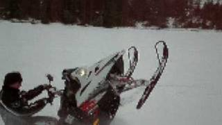 2. 2009 Polaris dragon 800 SP, Barried the camara man in snow :P